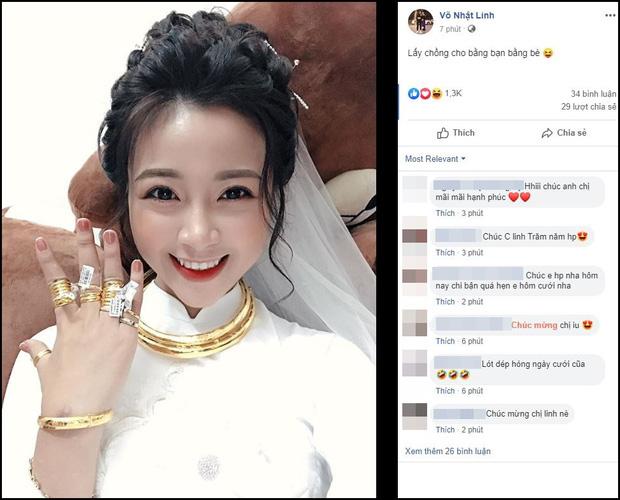 Vợ Phan Văn Đức khoe vàng treo kín tay, trĩu cổ sau đám hỏi, còn vui vẻ: Lấy chồng cho bằng bạn bằng bè! - Ảnh 1.