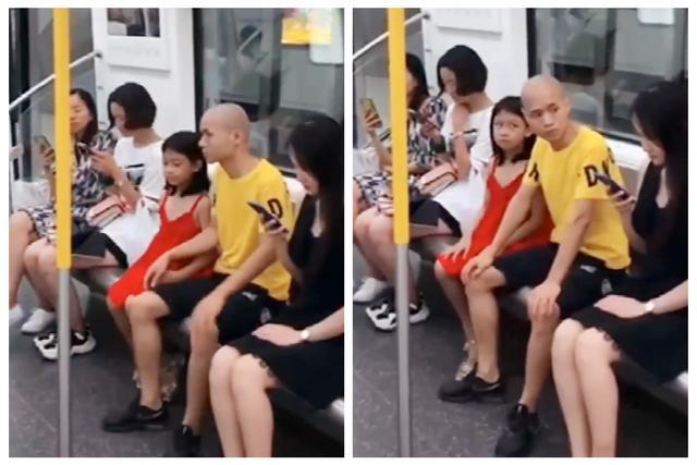 Bố nhìn trộm người phụ nữ xinh đẹp trên tàu điện ngầm, con gái nhỏ đã có hành động xử đẹp khiến ông hú hồn - Ảnh 1.