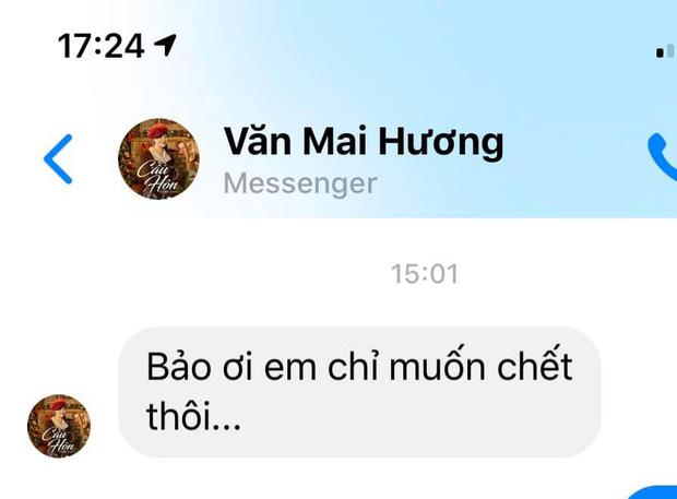 Dòng tin nhắn đau lòng của Văn Mai Hương gửi bạn bè sau sự cố bị hack camera: Em chỉ muốn chết thôi... - Ảnh 1.