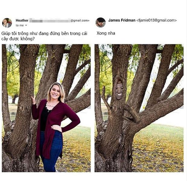 Chuyên nhận photoshop hộ ảnh trên mạng, anh chàng designer lầy lội trả về loạt thành phẩm khiến khổ chủ dở khóc dở cười - Ảnh 5.