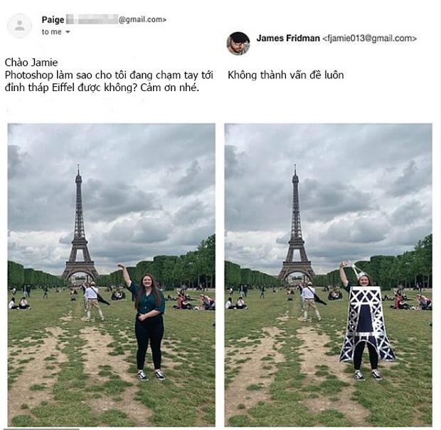 Chuyên nhận photoshop hộ ảnh trên mạng, anh chàng designer lầy lội trả về loạt thành phẩm khiến khổ chủ dở khóc dở cười - Ảnh 8.