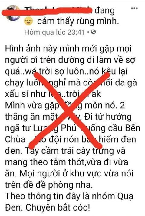 Nam thanh niên đăng thông tin nhóm người ăn xin bôi đen về đến Tiền Giang bị xử phạt - Ảnh 1.