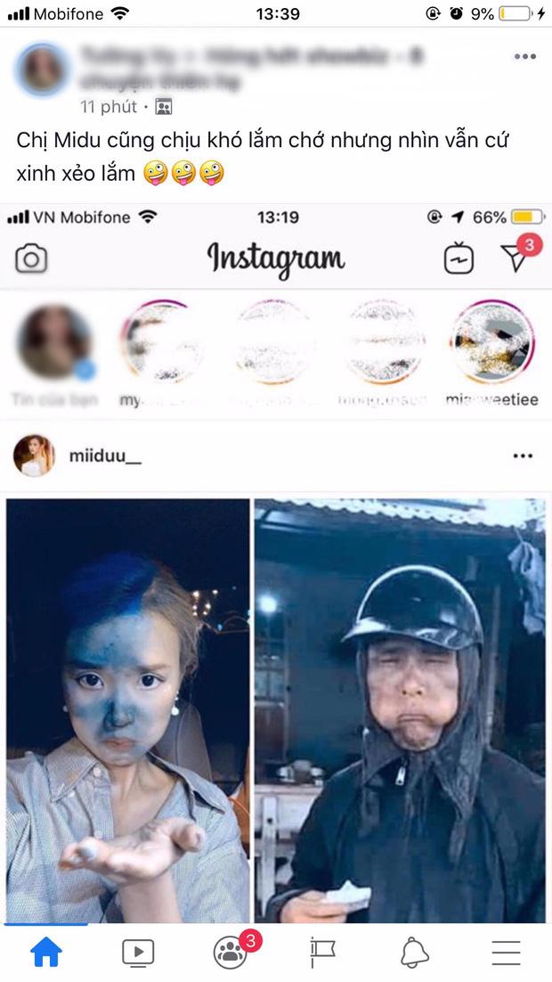 Dân mạng cãi nhau kịch liệt khi thấy ảnh Midu cosplay nhân vật cầm đầu gà: Là tài khoản fake hại Midu hay do cô nàng cũng giỡn quá đà? - Ảnh 1.