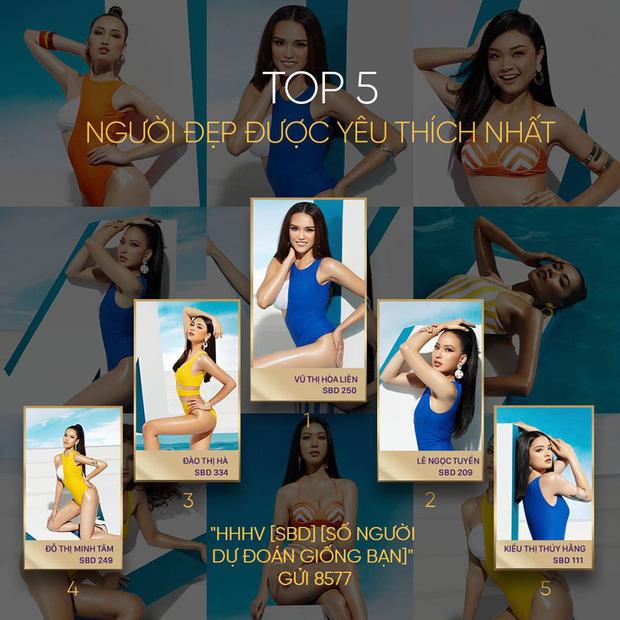 Trước thềm chung kết, Miss Universe Việt công bố top 5 được yêu thích nhất: Thuý Vân, Tường Linh bỗng mất hút? - Ảnh 1.