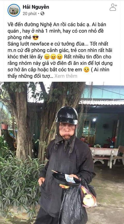 Thực hư thông tin nhóm ăn xin mặt quỷ về đến Nghệ An, Hà Tĩnh - Ảnh 3.
