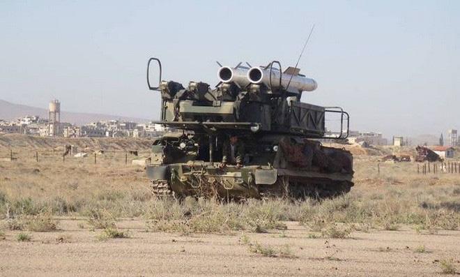 Hình ảnh sát thủ phòng không tầm trung Buk-M2E của Syria bị tấn công phá hủy - Ảnh 9.