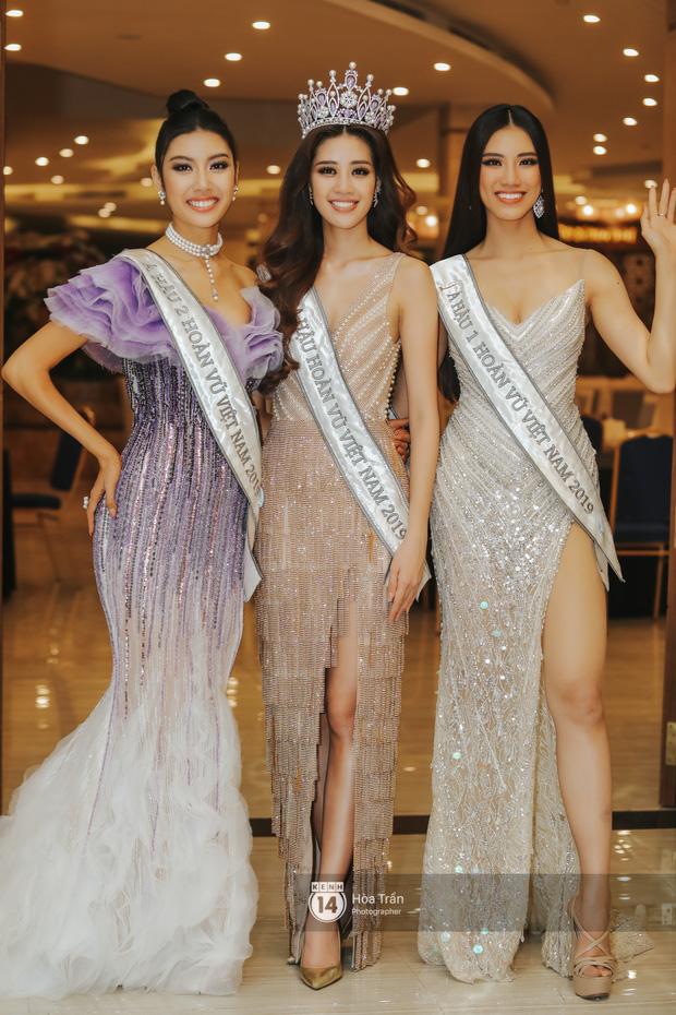 Cận cảnh nhan sắc Top 3 Hoa hậu Hoàn vũ Việt Nam 2019: Khánh Vân tỏa sáng với gương mặt thánh thiện, 2 nàng Á hậu đáng gờm - Ảnh 2.