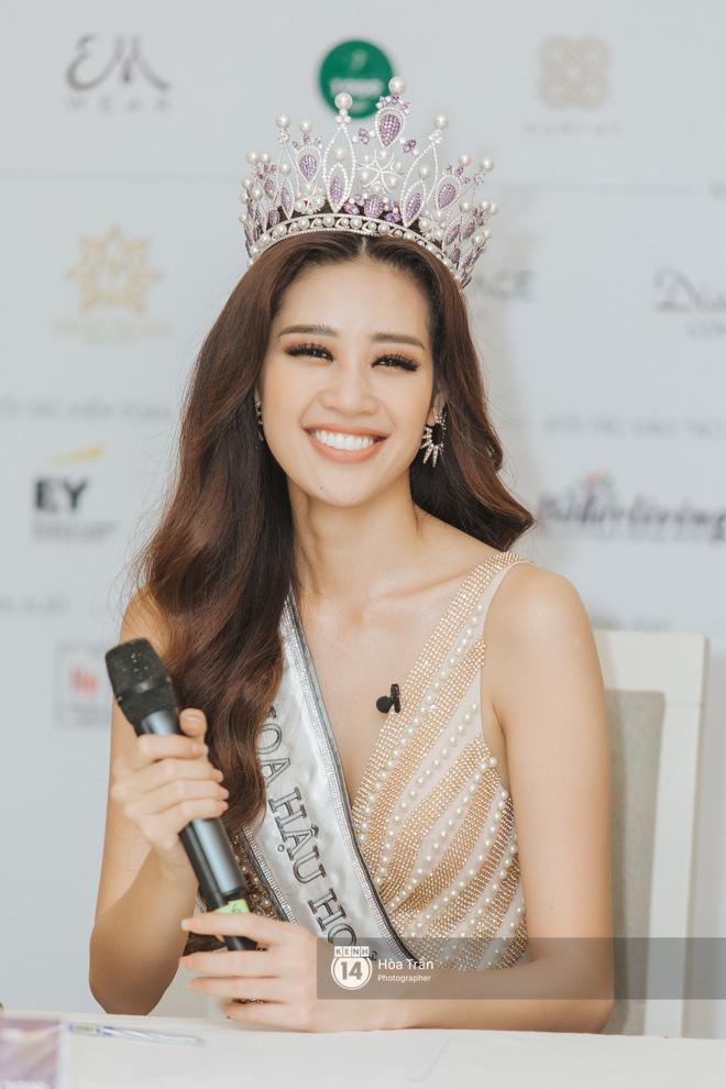 Cận cảnh nhan sắc Top 3 Hoa hậu Hoàn vũ Việt Nam 2019: Khánh Vân tỏa sáng với gương mặt thánh thiện, 2 nàng Á hậu đáng gờm - Ảnh 5.