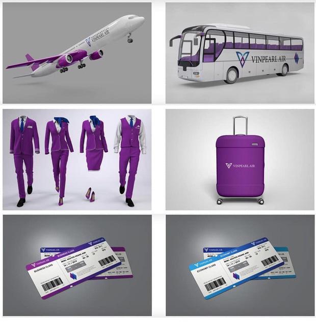 Dân mạng lan truyền bộ nhận diện thương hiệu tím lịm tìm sim, nghi là màu chủ đạo của Hãng hàng không Vinpearl Air - Ảnh 1.
