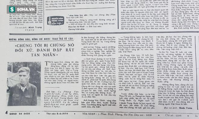 Báo QĐND năm 1979 viết về chiến tranh biên giới: Chúng tôi bị nó đối xử, đánh đập rất tàn nhẫn - Ảnh 1.