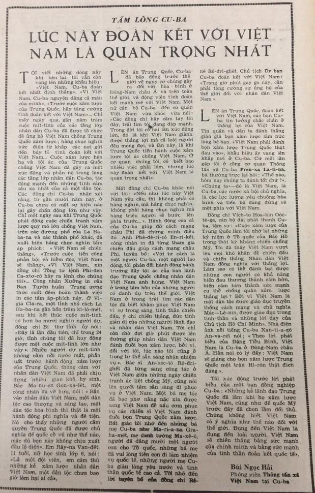 Biên giới 1979: Nếu Việt Nam yêu cầu, cả triệu người Cuba sẽ bước lên - Ảnh 2.