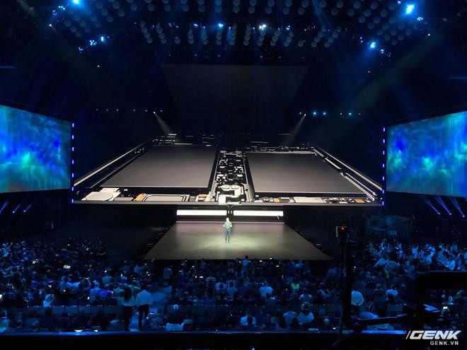 Samsung giới thiệu smartphone mở ra gập vào như cuốn sổ, 6 camera, 2 cục pin, giá 2 nghìn đô - Ảnh 2.