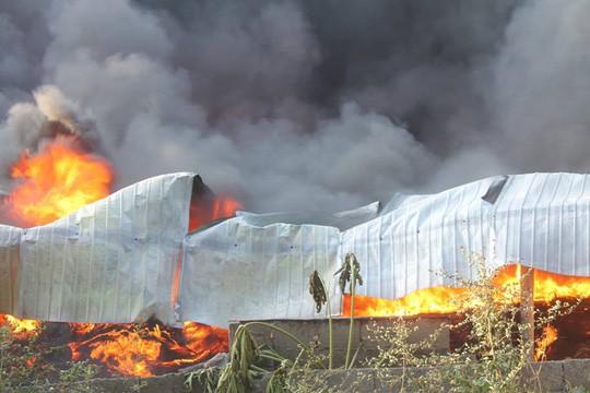 Người đàn ông mình trần cố cứu lốp ôtô trong đám cháy lớn  - Ảnh 2.