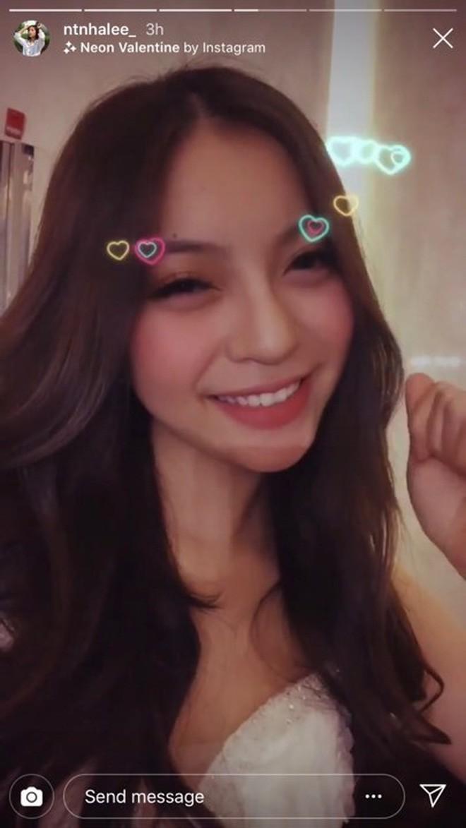 Cuối tuần đang yên ả, bạn gái Quang Hải đăng story thử váy cưới khuấy động Instagram - Ảnh 1.