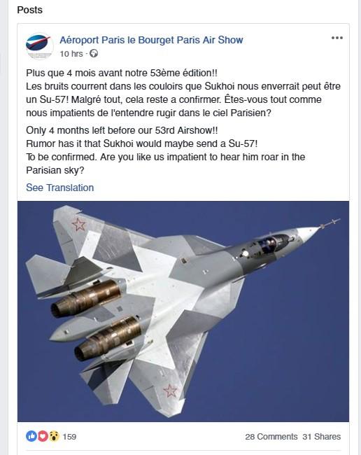 Su-57 Nga lần đầu tiên sẽ gầm rú trên bầu trời Paris, Pháp - Ảnh 1.