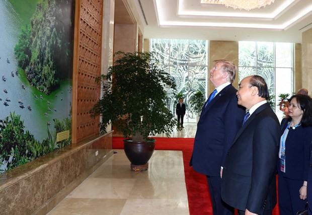 [ẢNH] Toàn cảnh cuộc hội đàm của Tổng thống Mỹ Donald Trump và Tổng Bí thư, Chủ tịch nước Nguyễn Phú Trọng - Ảnh 32.