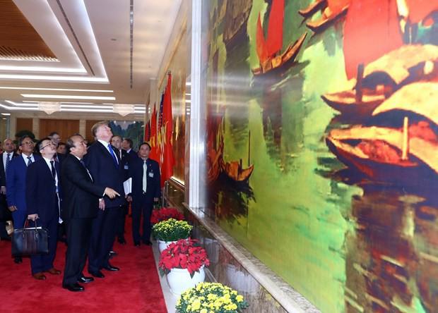 [ẢNH] Toàn cảnh cuộc hội đàm của Tổng thống Mỹ Donald Trump và Tổng Bí thư, Chủ tịch nước Nguyễn Phú Trọng - Ảnh 33.