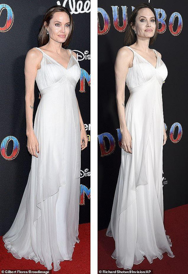 Angelina Jolie diện đầm gợi cảm, lộ hình xăm kín lưng cùng các con đi sự kiện - Ảnh 7.