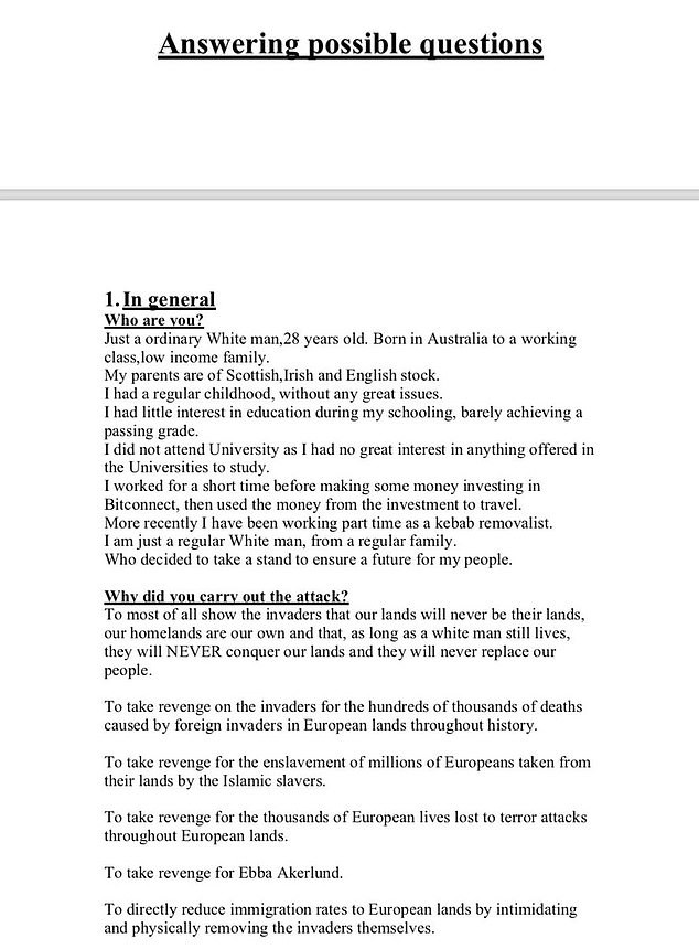 Vụ xả súng đẫm máu ở New Zealand: Có gì trong tuyên bố 73 trang được nghi phạm đăng tải trước khi hành động? - Ảnh 3.
