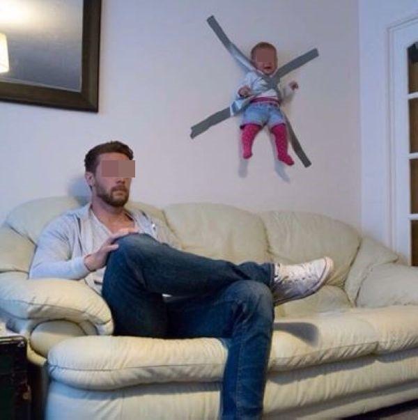 Dán chặt con vào tường để rảnh tay chơi game, ông bố trẻ khiến dân mạng bức xúc - Ảnh 2.