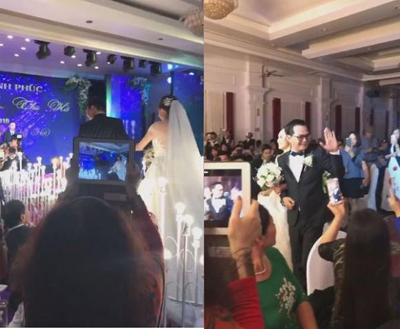 NSND Trung Hiếu tổ chức đám cưới với vợ trẻ kém 19 tuổi ở Thái Bình, bất ngờ nói điều này khiến cả hội trường thích thú - Ảnh 4.