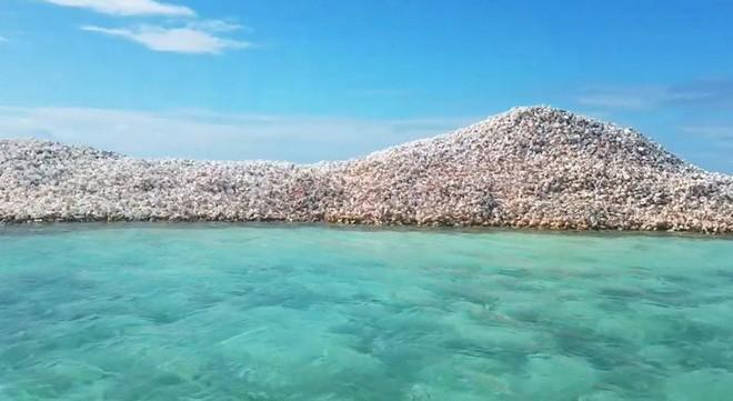 Đây là hòn đảo nhân tạo có một không hai trên thế giới: toàn bộ được làm từ vỏ ốc xà cừ chất thành đống - Ảnh 8.