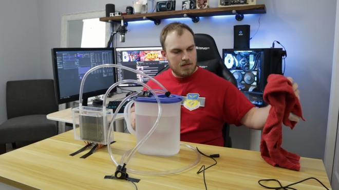 Dùng tản nhiệt khí nhưng lại làm mát bằng nước đá, Youtuber khiến dân PC bất ngờ vì quá sáng tạo - Ảnh 8.