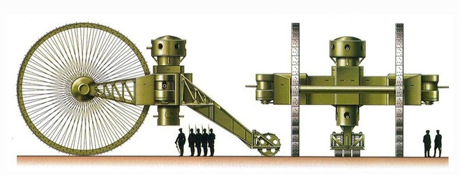 [Vietsub] Tìm hiểu về chiếc xe tăng Sa Hoàng độc nhất vô nhị trong thế chiến I: Cao 9 m, nặng 40 tấn nhưng chỉ là món đồ chơi phóng to - Ảnh 3.