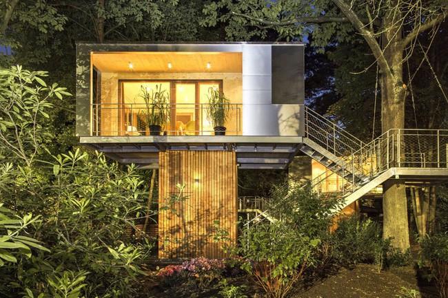 Ngắm ngôi nhà trên cây đẹp lãng mạn giữa đồi núi mênh mông - Ảnh 10.