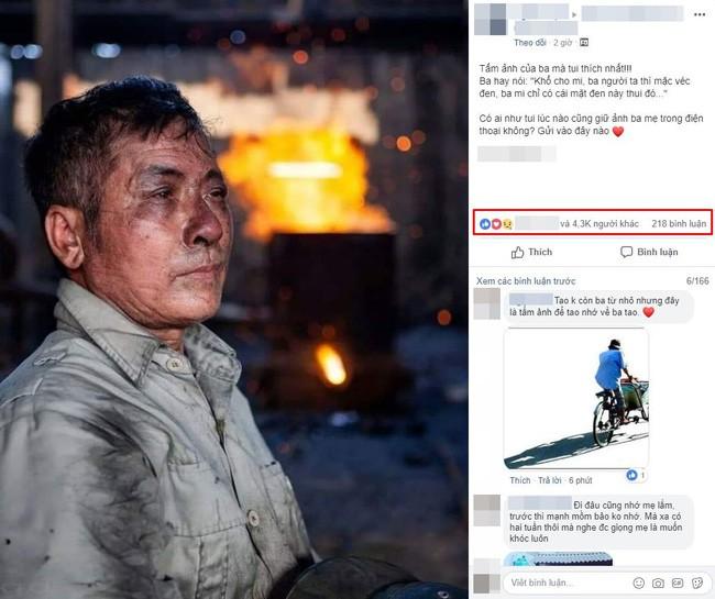 Dân mạng rơi nước mắt với bức ảnh người cha lấm lem cùng câu nói xúc động, nhưng đây mới là sự thật phía sau - Ảnh 1.