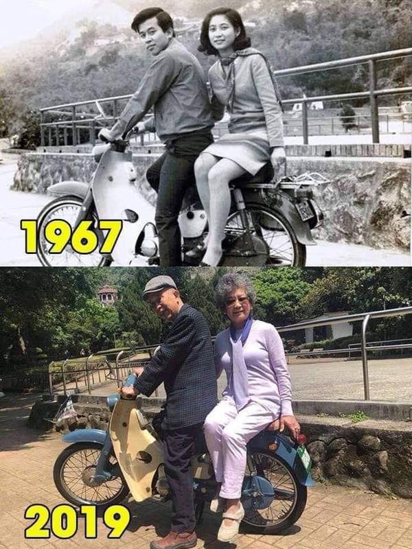 Bức ảnh check in 'ngày ấy - bây giờ' hot nhất MXH: 52 năm một cuộc tình, sự thuỷ chung khiến ai cũng ngưỡng mộ - Ảnh 1.