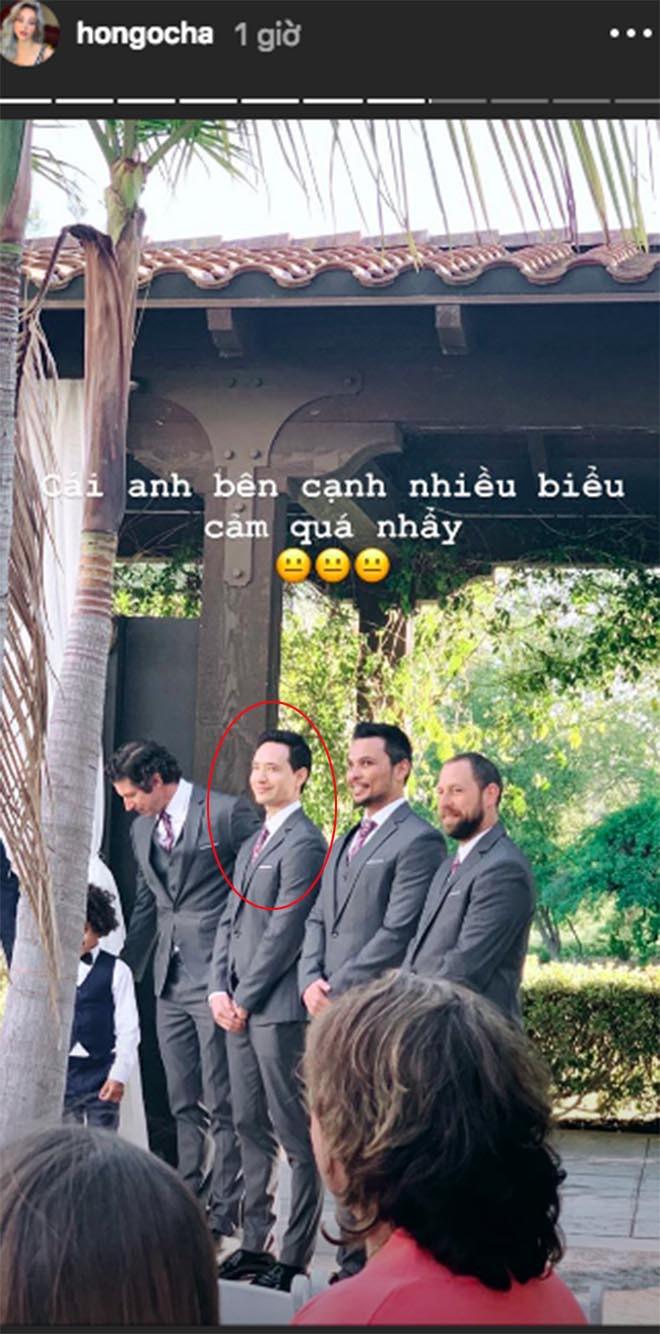 Hồ Ngọc Hà khoe lần đầu đi ăn cưới ở Mỹ và bất ngờ với biểu cảm của Kim Lý khi làm phù rể - Ảnh 3.