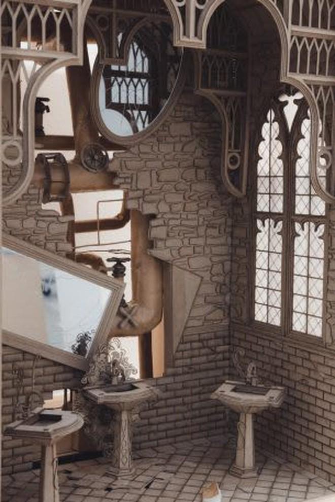 Sinh viên đại học kiến trúc vừa thiết kế lại thế giới Harry Potter, còn đẹp hơn cả phim - Ảnh 8.