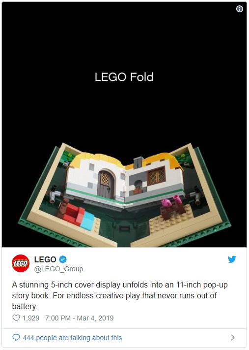Học tập Samsung, Lego cũng ra mắt smartphone màn hình gập của riêng mình? - Ảnh 1.