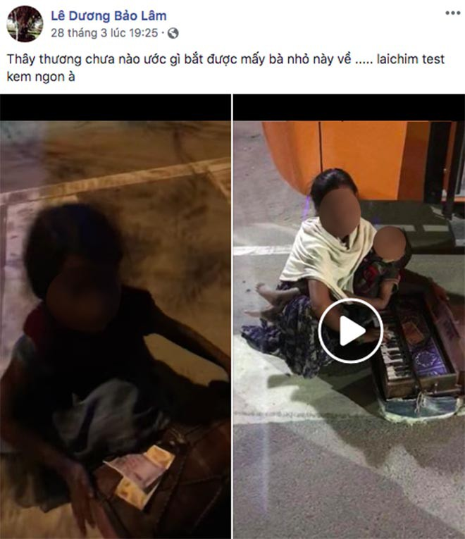 Lê Dương Bảo Lâm khiến cư dân mạng bức xúc khi bình luận sốc về trẻ em ăn xin - Ảnh 1.