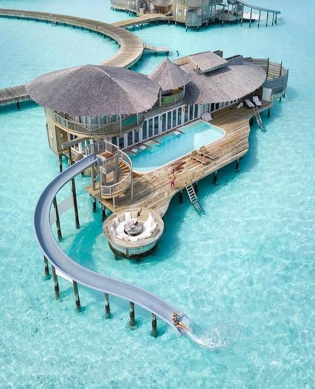 Choáng với khu nghỉ dưỡng sang chảnh bậc nhất Maldives, chỉ dành cho giới giàu đến siêu giàu - Ảnh 9.