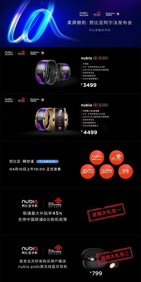 Smartphone đeo tay Nubia Alpha - thiết kế siêu dị của Trung Quốc vừa lên kệ với giá hơn 12 triệu đồng - Ảnh 1.