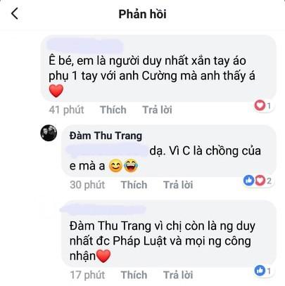 Hành động được chú ý của Cường Đô La khi dân mạng gọi Đàm Thu Trang là vợ hợp pháp duy nhất - Ảnh 2.