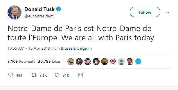Thế giới bàng hoàng trước vụ cháy Nhà thờ Đức Bà Paris - Ảnh 1.