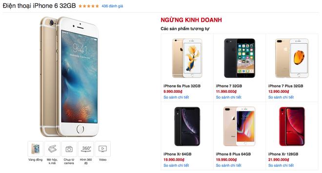 Sau hơn 4 năm được bày bán, cuối cùng iPhone 6 đã bị khai tử tại Việt Nam - Ảnh 1.