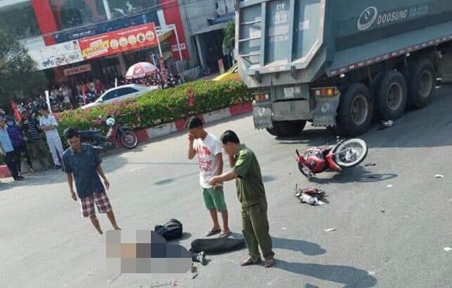 Trên đường đi làm, nữ bác sĩ bị xe tải đầu kéo cán chết thương tâm - Ảnh 1.