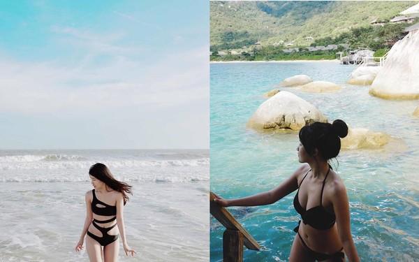Hot girl Việt diện bikini gợi cảm đập tan ngày hè nắng nóng - Ảnh 2.