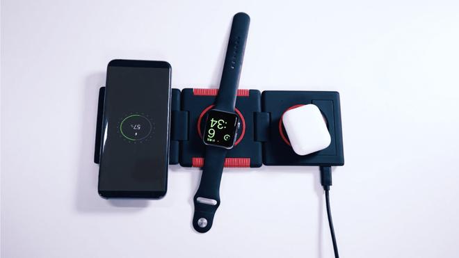 Không AirPower cũng chẳng sao vì đã có đế sạc không dây xếp hình: Sạc iPhone, Apple Watch, Airpods cùng lúc, giá chưa tới 1.4 triệu! - Ảnh 2.