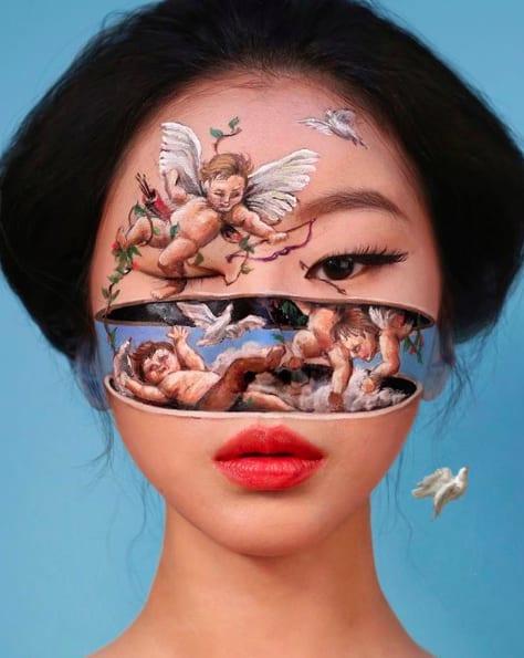 Bối rối với những khuôn mặt được trang điểm theo phong cách 3D đầy lú lẫn - Ảnh 1.