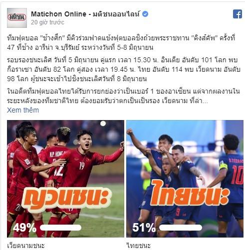 Báo Thái Lan đưa ra con số gây ngạc nhiên về ĐT Việt Nam trước cuộc thư hùng ở King's Cup - Ảnh 1.