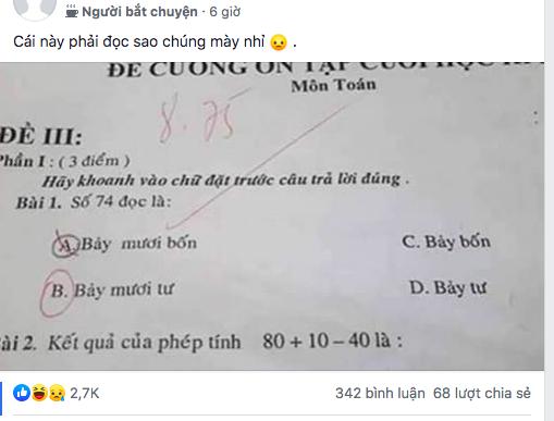 Tranh cãi gay gắt Toán lớp 1: Số 74 đọc là Bảy mươi bốn hay Bảy mươi tư mới đúng? - Ảnh 1.
