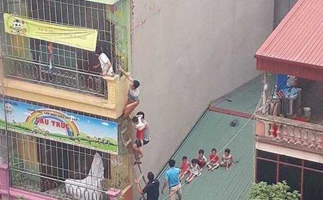 Hà Nội: Xác định nguyên nhân vụ cháy trường mầm non, học sinh thoát ra ngoài bằng mái nhà - Ảnh 2.