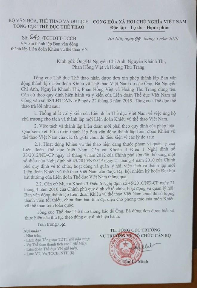 Làng Khiêu vũ thể thao Việt Nam nhận tin vui từ Tổng cục TDTT - Ảnh 1.