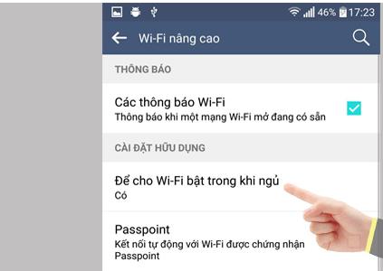 Cách xử lý lỗi điện thoại bị tắt wifi, 3G khi khóa màn hình - Ảnh 5.