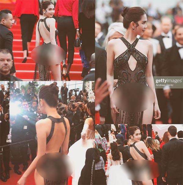 Ngọc Trinh mặc như không mặc xuất hiện tại thảm đỏ Cannes 2019 và phản ứng của cư dân mạng - Ảnh 1.